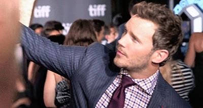 "Chris Pratt takes selfies with fans at the premiere of ""The Magnificent Seven' during the 2016 Toronto International Film Festival on September 8, 2016 in Toronto, Canada."