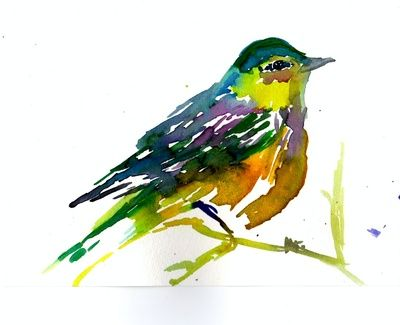 Colorful Bird by Jessica Buhman #watercolor #art #painting #spring
