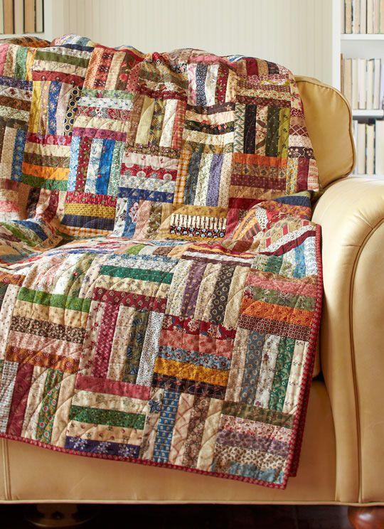 Great scrappy quilt.