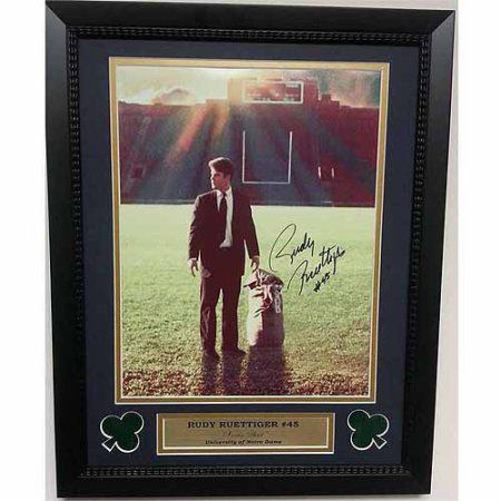 Ncaa 14x18 Autographed Frame, Rudy Ruetiger Notre Dame