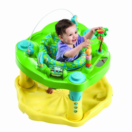 Amazon.com : Evenflo Exersaucer Bounce & Learn, Zoo Friends : Stationary Stand Up Baby Activity Centers : Baby