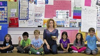 LA Times - Mindful meditation at school makes kids go ommm