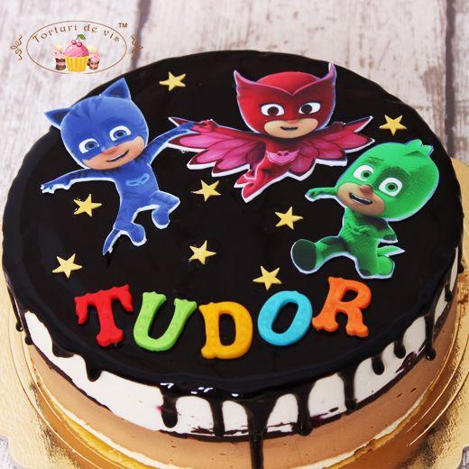 super dragut design de top destul de dragut Torturi de vis: Tort Eroi in pijamale   Cake, Desserts, Food