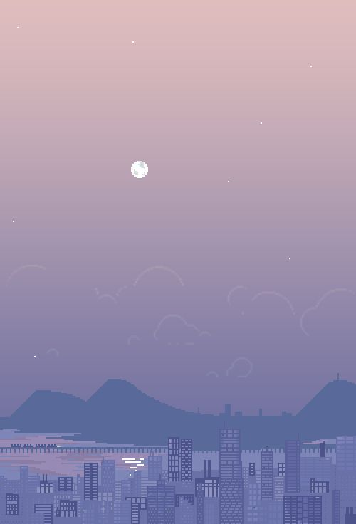 Went Outside And Saw The Moon And It Made Me Think Of You Pixel Art Aesthetic Wallpapers Art Wallpaper