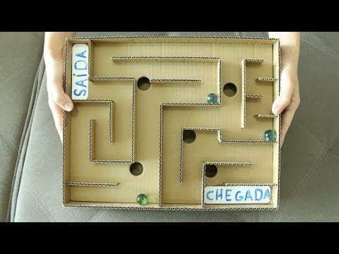 Diy Como Fazer Um Jogo De Labirinto De Papelao Youtube Como Fazer Um Jogo Palito De Picole Como Fazer Um Brinquedo