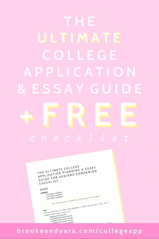 The Ultimate College Application Planning \ Essay Guide For - college application