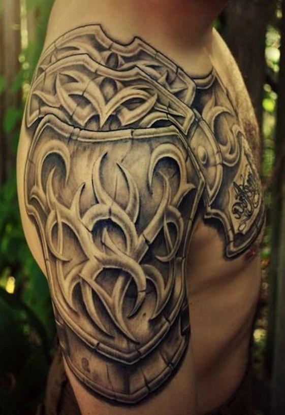 Tattoos For Men Cards Tattoosformen Armor Tattoo Mens Shoulder Tattoo Armour Tattoo