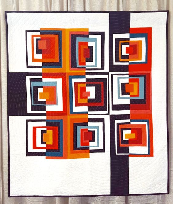 This concept would make a good mini-quilt  quiltcon-juli