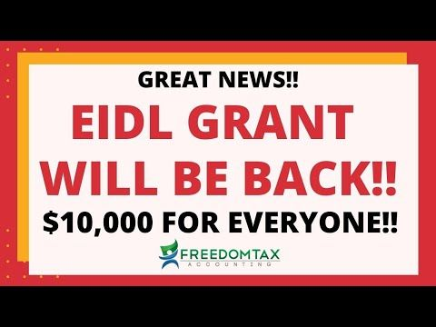 Sba Eidl Grant Will Be Back 10 000 For Everyone Ensuring Disaster Loans For Small Businesses Act Youtube Small Business Disasters Business