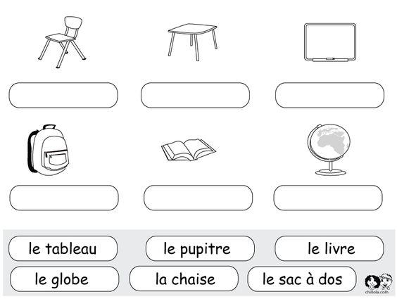 worksheets school french french worksheets for children fran ais activit s imprimer. Black Bedroom Furniture Sets. Home Design Ideas