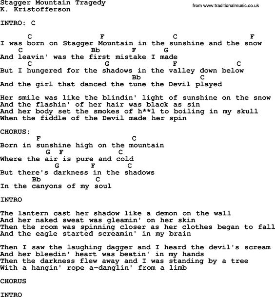 Kris Kristofferson song: To Beat The Devil lyrics and chords ...