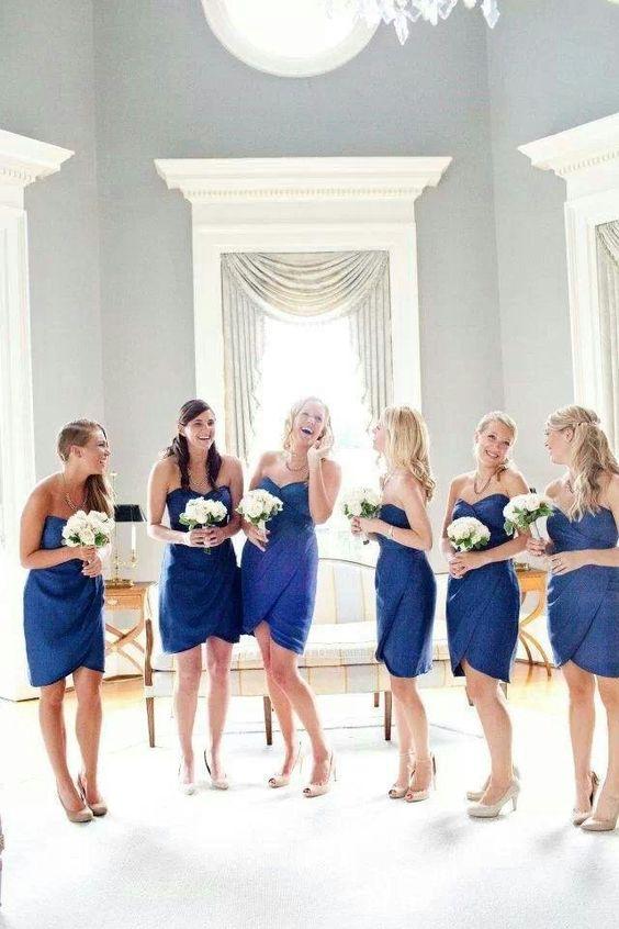 Vestido dama de honor azul