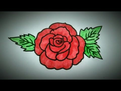 How To Draw A Rose Easy Tutorial Draw A Simple Rose Flower Youtube Rose Drawing Simple Roses Drawing Art Drawings Sketches Simple