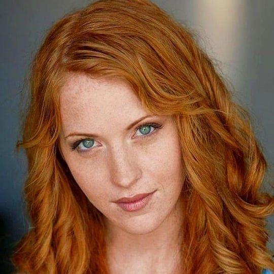 Redhead Beauty Red Hair Green Eyes Beautiful Red Hair