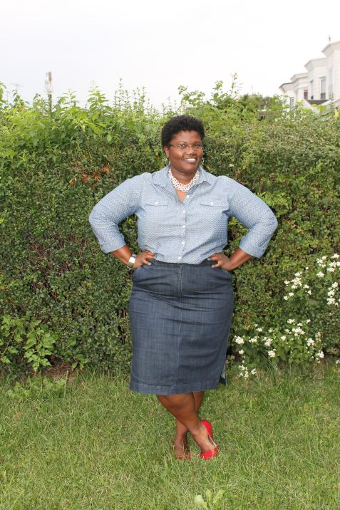 Plus Size Fashion for Women - plus size skirts how to wear denim