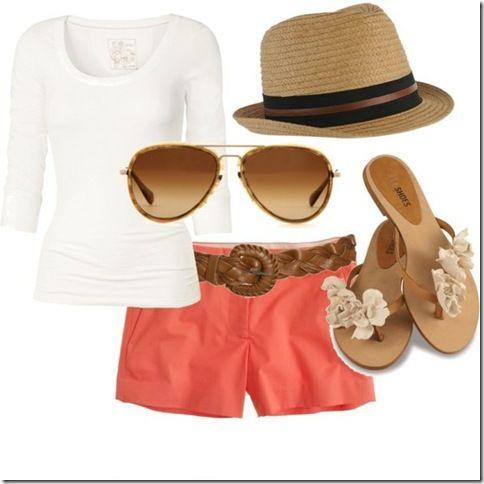 coral shorts :)