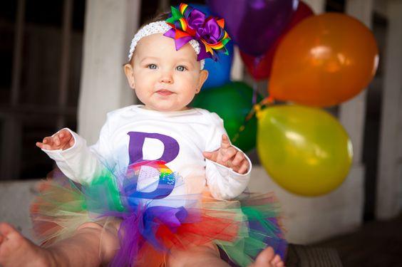 rainbow party tutu set from  tutufairy on etsy. TutuFairy.Etsy.com