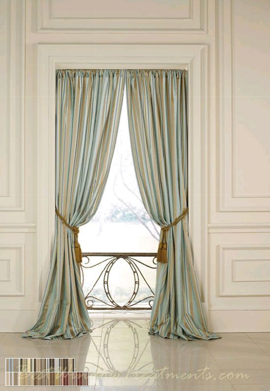 Sorrento Stripe Curtain Drapery Panels Nfpa 701 Fr Fire Retardant Rated Bestwindowtreatments