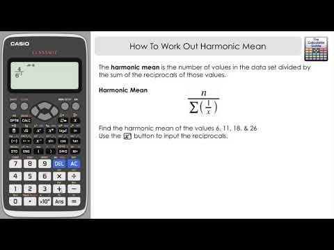 How To Find The Harmonic Mean - Casio Classwiz fx-991EXThe Calculator Guide  | Graphing calculator, Calculator, Casio