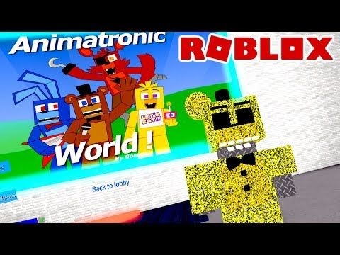 Virei Um Animatronic Do Fnaf No Roblox Animatronic World Youtube