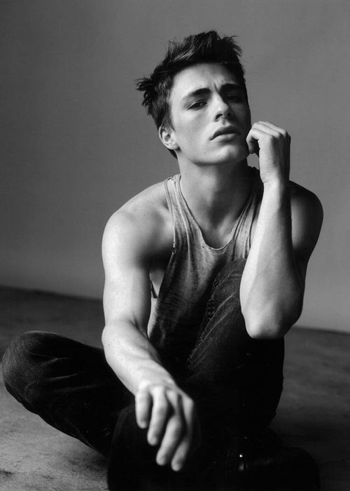 Colton Haynes black and white
