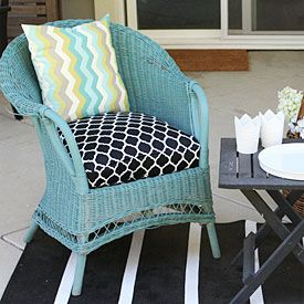 Seat cushions cushion covers and cushions on pinterest for Seat covers for cane furniture
