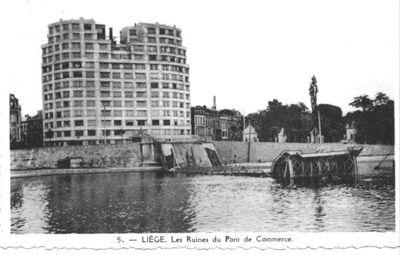Résidence du Parc après les bombardements - 1944