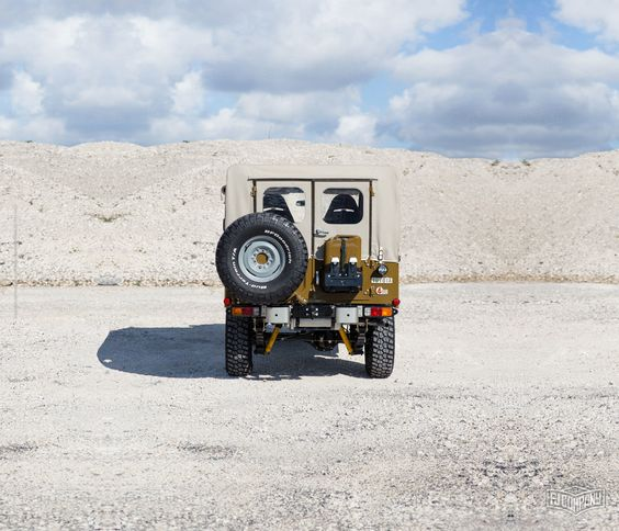 Check out this custom-restored Toyota FJ43 Land Cruiser - built specifically to handle the terrain of the Copperstate Overland. This FJ43 can be yours – contact The FJ Company today!