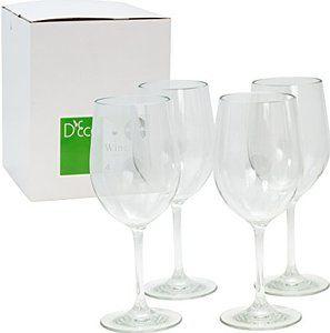 Enter to win!  Unbreakable Wine Glasses - 100% Tritan - Shatterproof, Reusable, Dishwasher Safe (Set of 4) by D'Eco