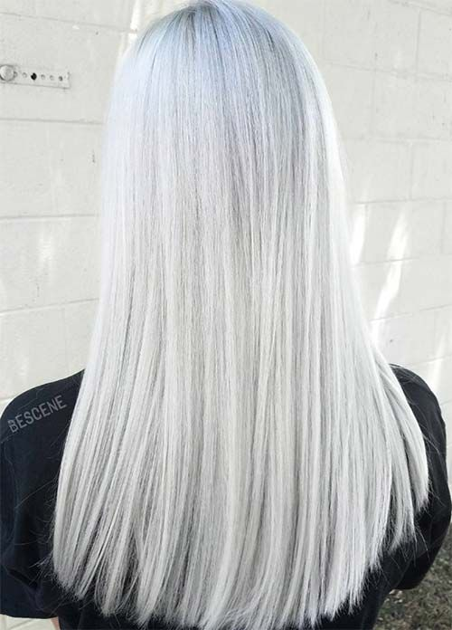Granny Silver/ Grey Hair Color Ideas: White Gray Hair   hair style ...