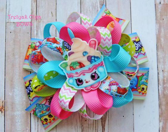 Shopkins Hair Bow Yo-Chi Frozen Shopkins Bow Shopkins Pigtails Yo-Chi hair bow Shopkins Birthday Party Loopy Flower bow Shopkins…