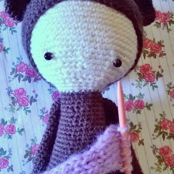Plus que l'écharpe et BINA est fini  #callalylalafht #Bina #lalylala #hook #crochet #amigurumi