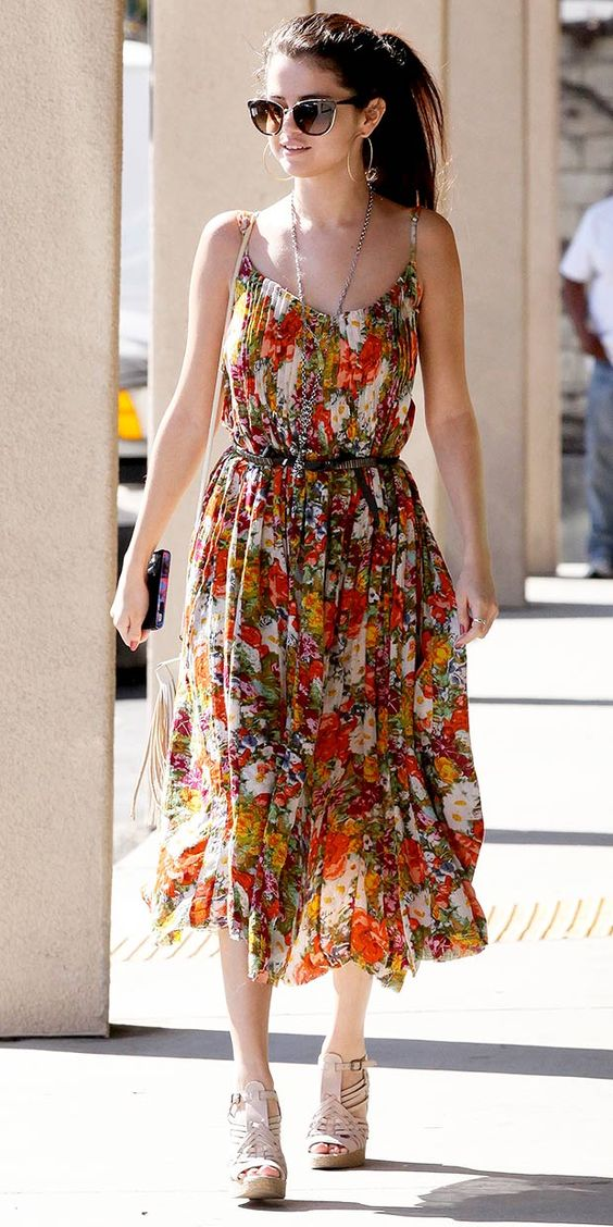 click to shop Selena Gomez's affordable Free People dress!: