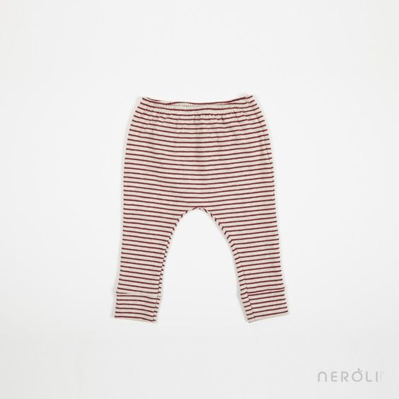 Legging rojo a rayas para bebé de 1 + In The Family. #baby #trousers #fashion #NeroliByNagore #SS14 #OneMoreInTheFamily