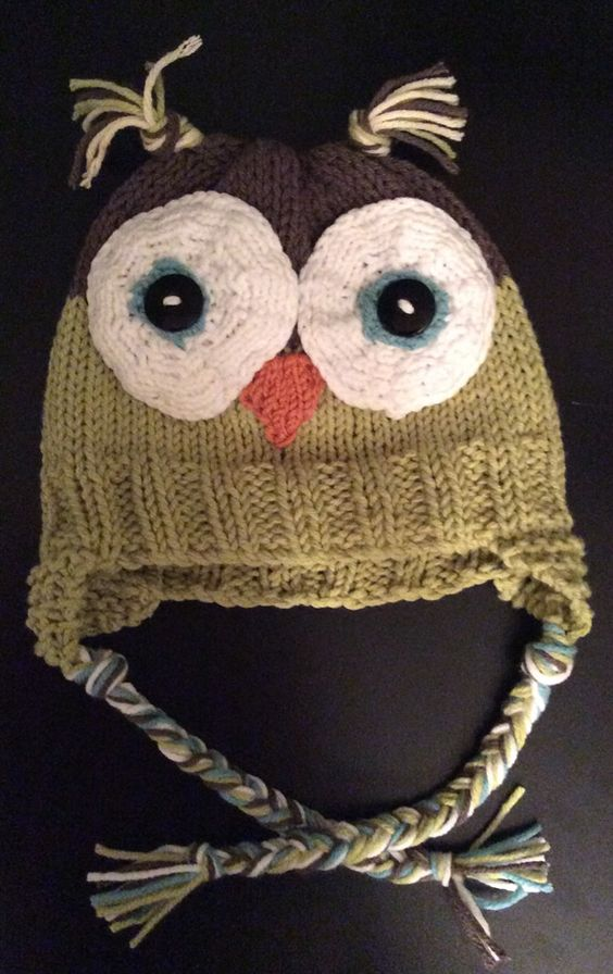 Owl Baby Hat Knitting Pattern : Owl hat - loom knitted! Love it. Yarn crafts Pinterest Knitted baby, Kn...