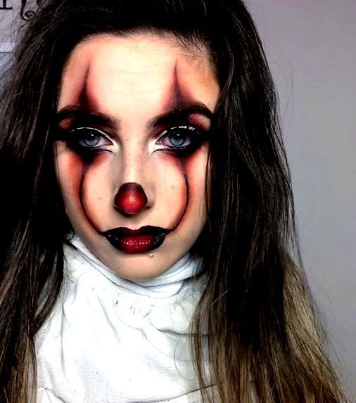 Scary Clown Makeup Colorful Halloween Makeup In 2020 Scary Clown Makeup Clown Makeup Colorful Halloween Makeup