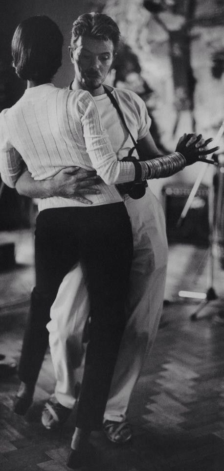 David Bowie and Iman dancing