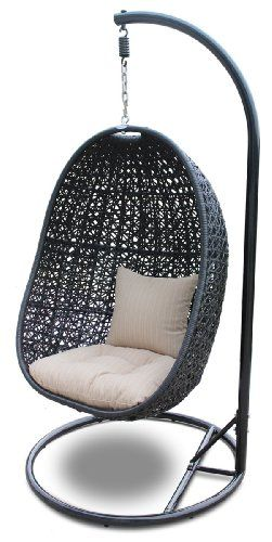 hanging egg chair with stand garden furniture pinterest swing chairs rattan and outdoor. Black Bedroom Furniture Sets. Home Design Ideas