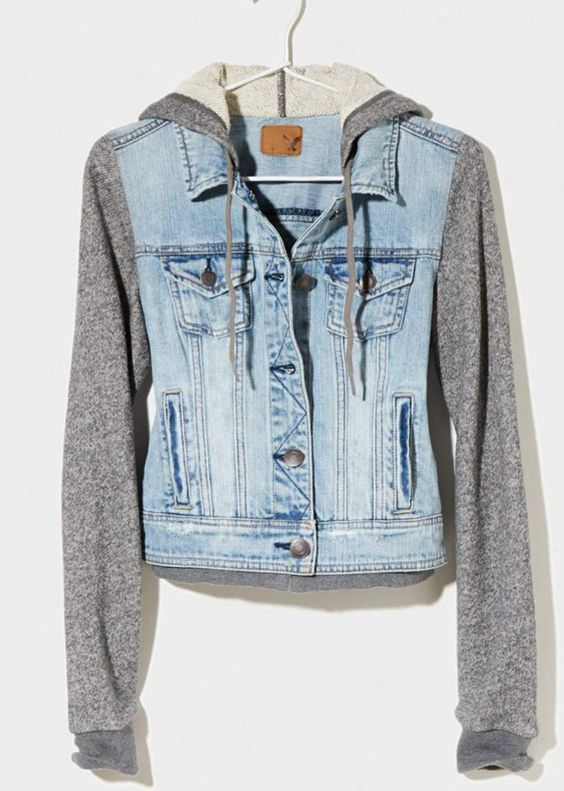Super cute half jean jacket from American eagle | Cute clothes ...