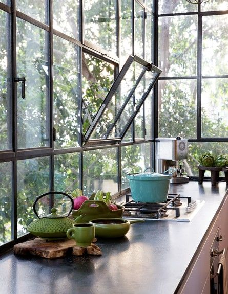 steel windows: