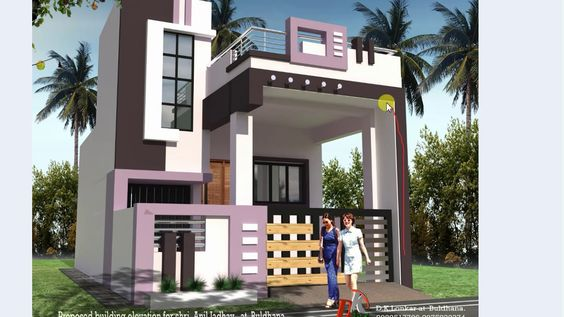 19 Ft Wide Front Elevations House Elevation Front Elevation Designs Small House Elevation Design
