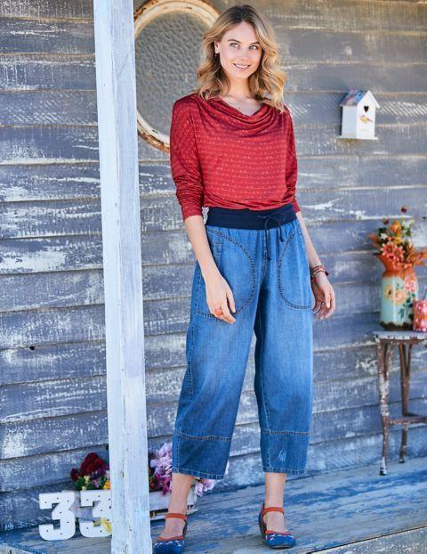 Lässige Pump-Hose im Jeans-Look