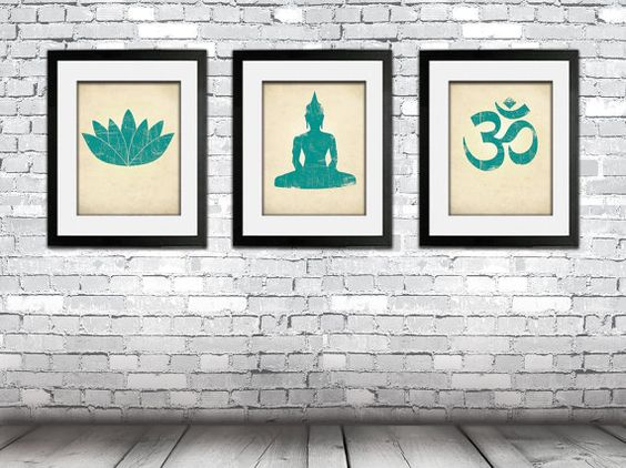 Hey, I found this really awesome Etsy listing at https://www.etsy.com/listing/186823160/yoga-print-set-lotus-flower-prints