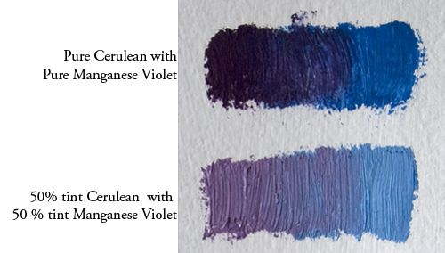 Favorite Paint Mixtures Cerulean Blue Cerulean Color Mixing