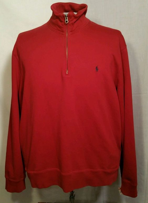 Polo Ralph Lauren half zip Pullover Sweater sweatshirt with ...