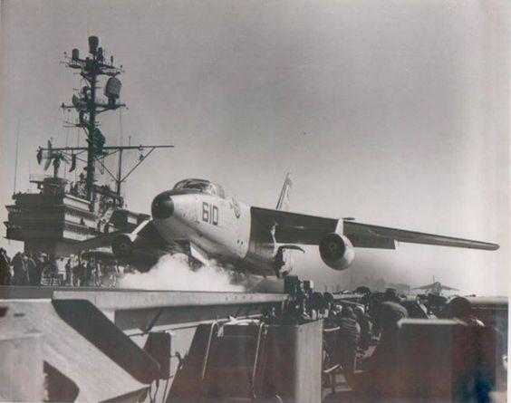 Shot off waist cat. A-3 Skywarrior, VAH-5 Savage Sons aboard USS Forrestal circa 1960