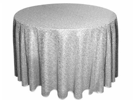 "Amazon.com: 72"" Round Sparkly silver Sequin Table Cloth Sequin Table Cloth, Cake Sequin Tablecloths, Sequin Linens for Wedding"