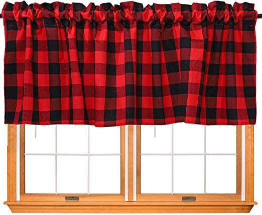 Buffalo Plaid Hanging Hand Towel Red And Black Check Hand Etsy Black And Red Kitchen Buffalo Plaid Fabric Buffalo Plaid