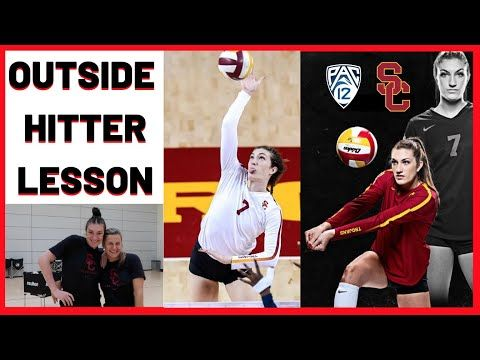 Usc Volleyball Skills Outside Hitter Lesson Feat All American Brooke Botkin Victoria Garrick Youtube Volleyball Skills Volleyball Tips Volleyball