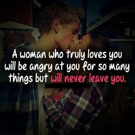 A woman who truly loves you